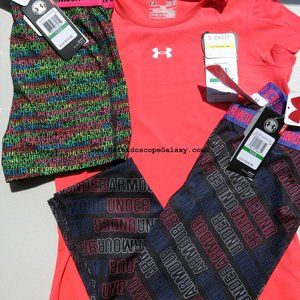 Under Armour Fitted Shorts Capri Leggings & Top